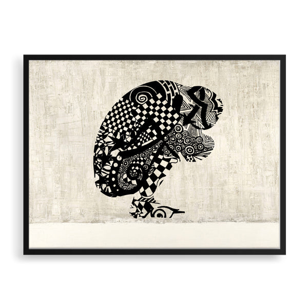 conquer framed print by south-african artist lungile mbokane