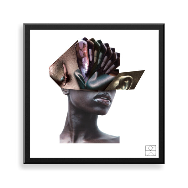 unnecessary vision framed print by black artist ebz