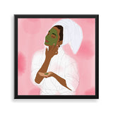 self-love framed print by black-british parys gardener