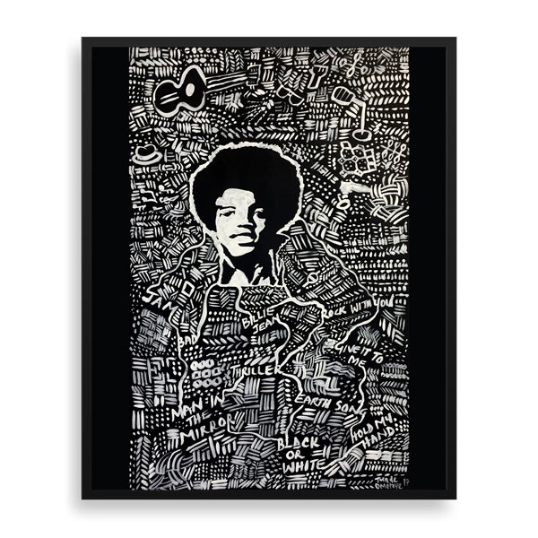 young michael framed art print by tunde omotoye