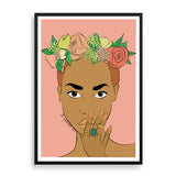 zara framed print by black-british artist nyanza d