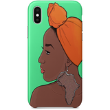 africanaise iPhone X by african illustrator artista amarela