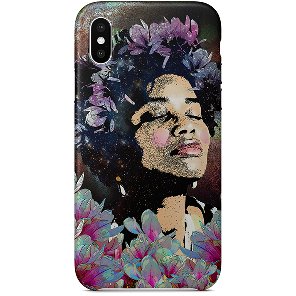 Afro Flowers iPhone Case X by Delphine Alphonse