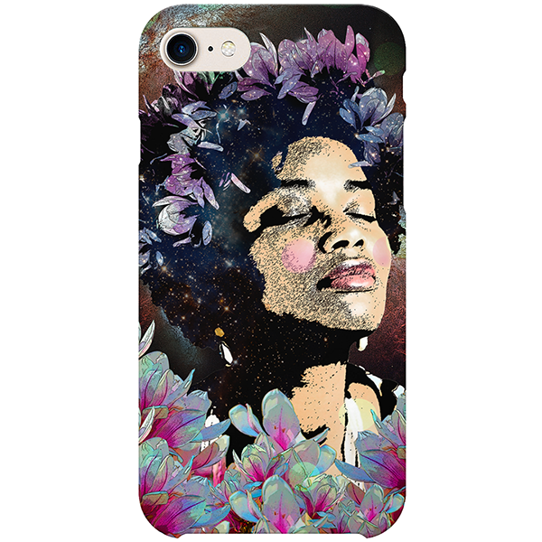 Afro Flowers iPhone Case by Delphine Alphonse