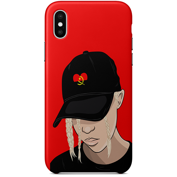 angola iPhone case by african illustrator artista amarela