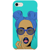 azure iPhone case by black-british artist nyanza d