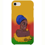 caribbean girl iphone case by black-british artist rahana banana