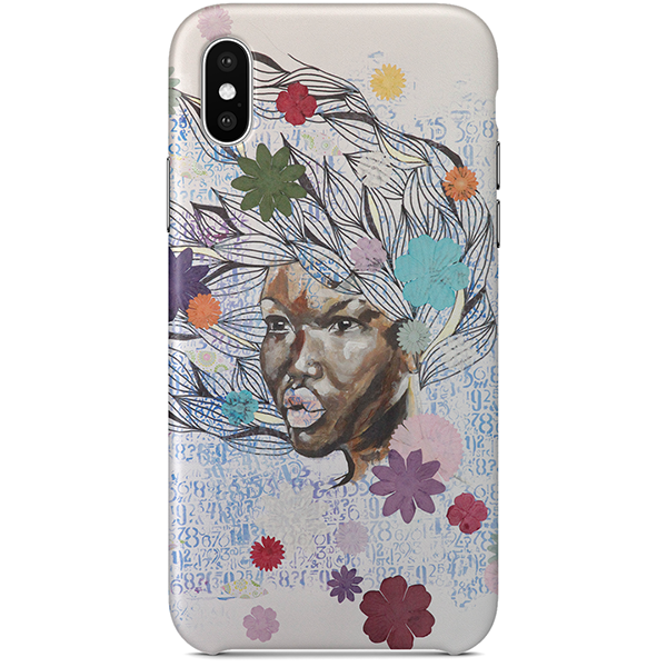 Cheveux au vent iPhone X Case by Delphine Alphonse