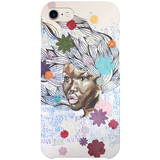 Cheveux au vent iPhone Case by Delphine Alphonse
