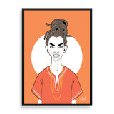coolboy framed art print by billy makembele