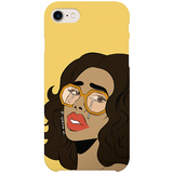 crying lady iPhone case by nyanza d