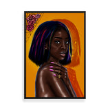 Flexin My Complexion framed art print by Kaizeea