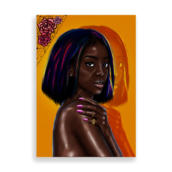 Flexin' My Complexion art print by kaizeea