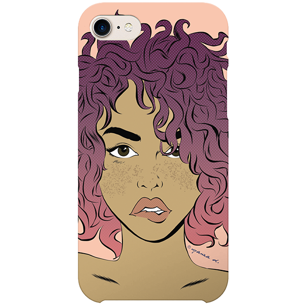 freckled iPhone case by black-british artist nyanza d