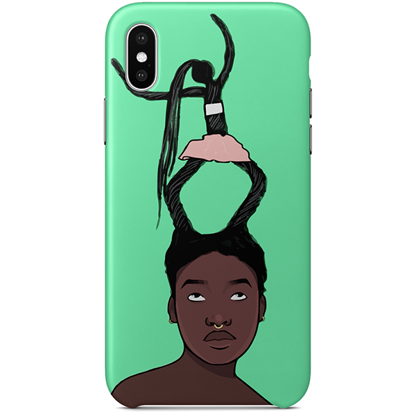 hair on the move iphone x case by artista amarela
