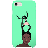 hair on the move iphone case by artista amarela