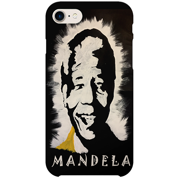Mandela iPhone case by  Nigerian artist Tunde Omotoye