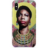 nina simone iPhone x case by  black-british artist natasha lisa