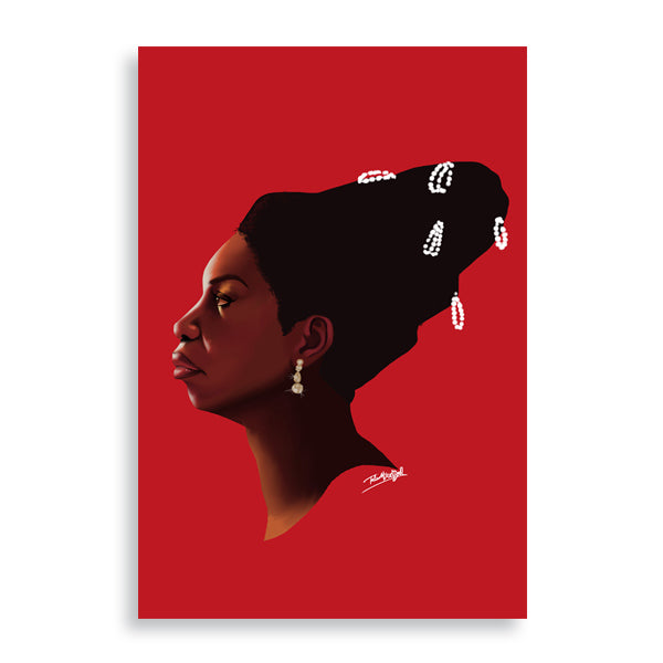 nina simone art print by african artist billy makembele