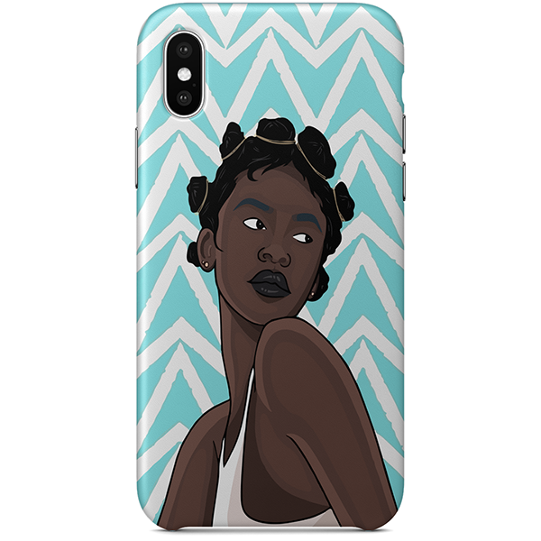 noire iPhone case x by african illustrator artista amarela