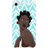 noire iPhone case by african illustrator artista amarela