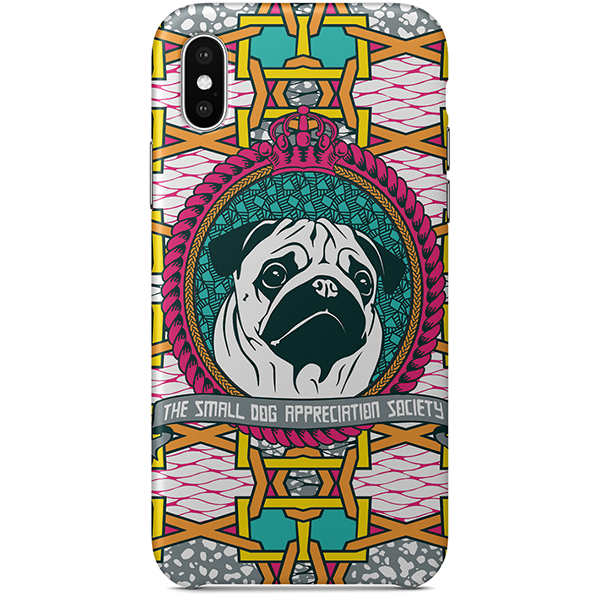 pug iPhone case x by  black-british artist natasha lisa