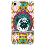 pug iPhone case by black-british artist natasha lisa