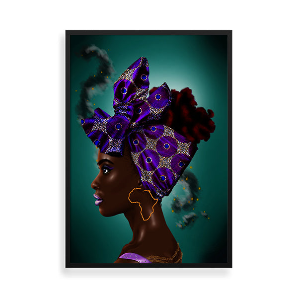 Purple Headwrap framed art print