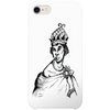 rainha nzinga iPhone case by artista amarela
