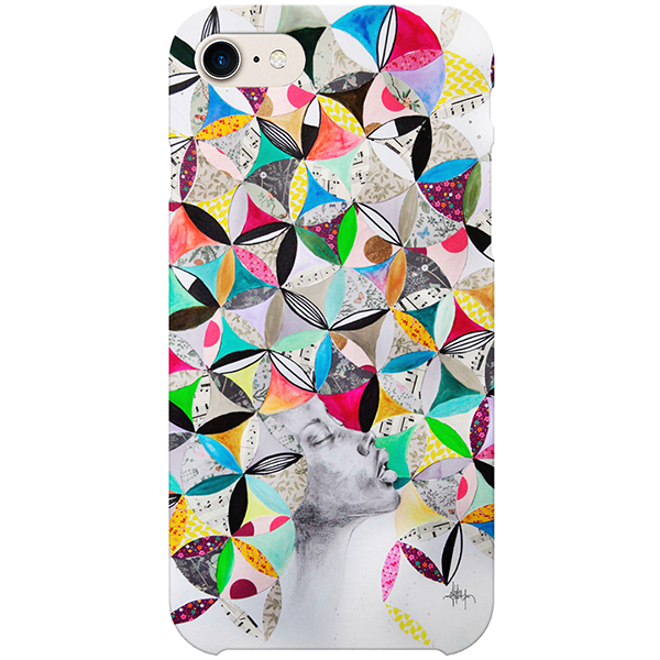 Afro et rosaces iPhone Case by Delphine Alphonse
