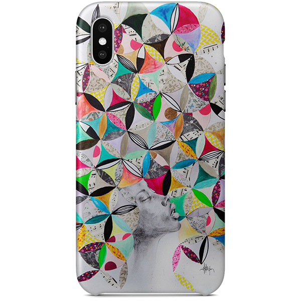 Afro et rosaces iPhone X Case by Delphine Alphonse