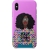 yum iPhone case x by african illustrator artista amarela