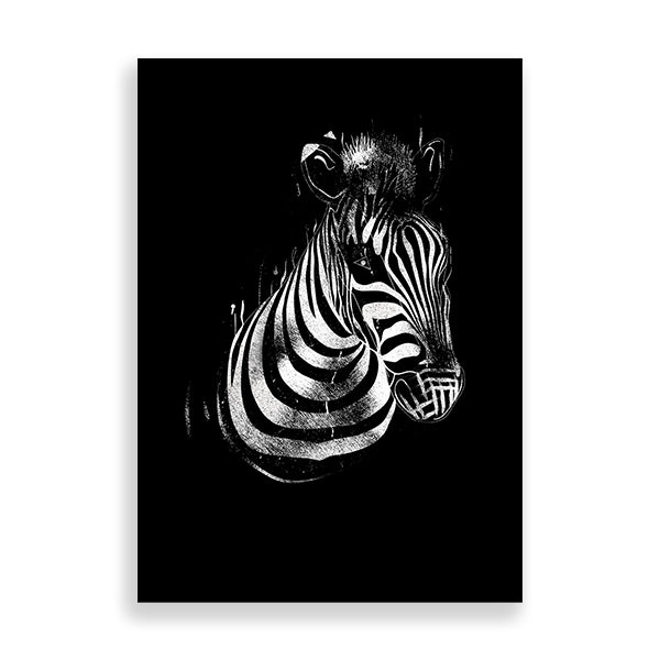 zebra art print by Afar