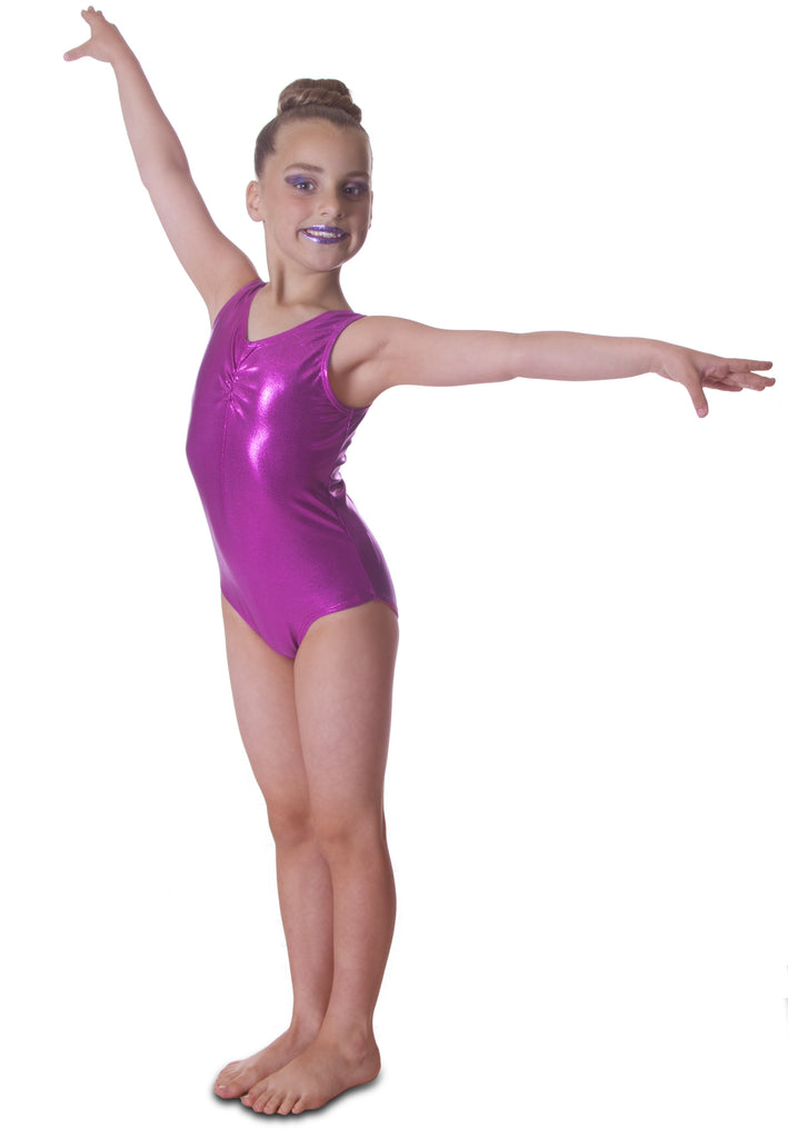 7d0385683 Pink Metallic Girls Sleeveless Leotard – Vincenza Dancewear