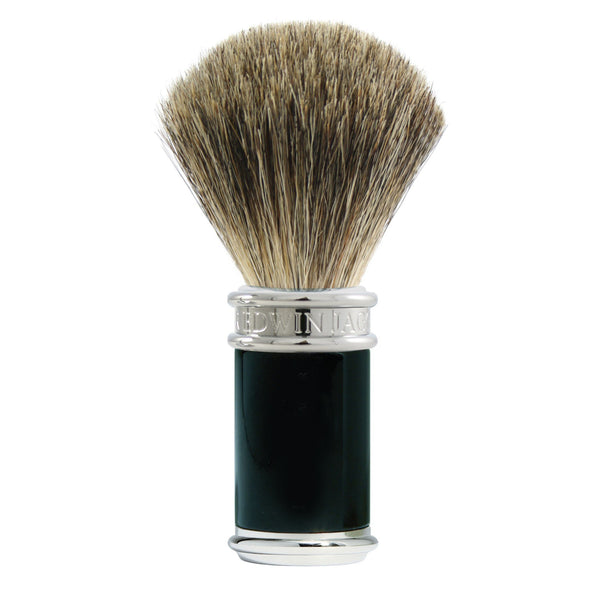 Black/Chrome Pure Badger Shaving Brush-Senseaura