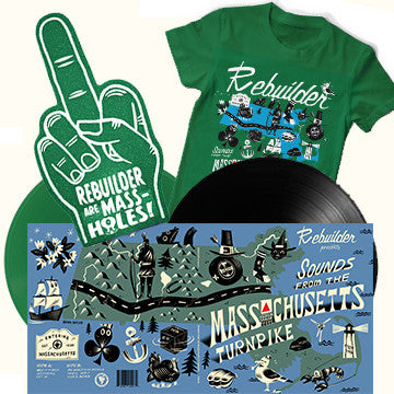 "Rebuilder - ""Sounds"" Both LPs, Foam Finger and Shirt Bundle!"