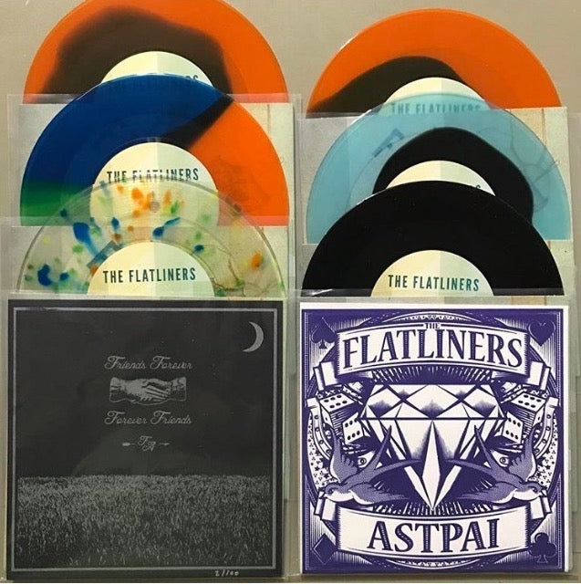 Screen Printed Cover - The Flatliners/ASTPAI Split - VERY LIMITED!