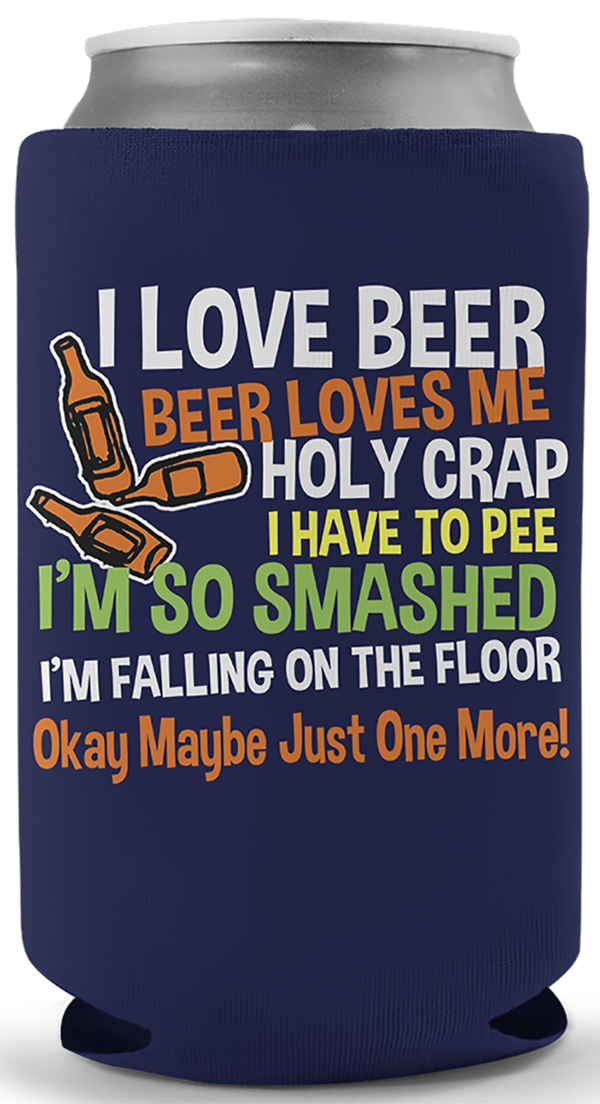 I Love Beer Song Koozie