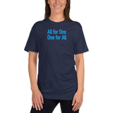 hinesii 'All for One' Short-Sleeve T-Shirt in blue ink