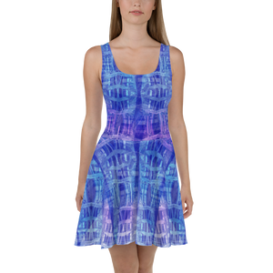 hinesii 'Kozmic Blue Batik' Skater Dress