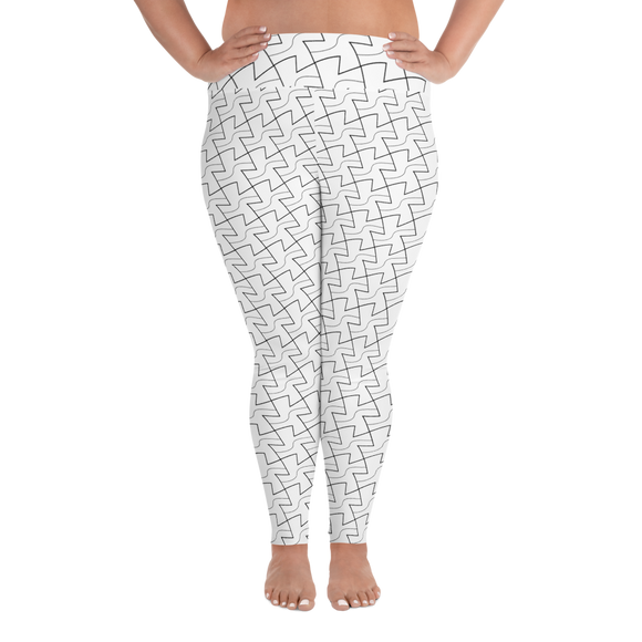 hinesii 'Tessie' All-Over Print Plus Size Leggings