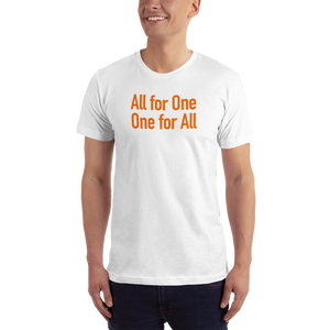 hinesii 'All for One' Short-Sleeve T-Shirt orange ink