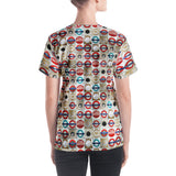 hinesii 'Circles' Women's V-neck T-shirt