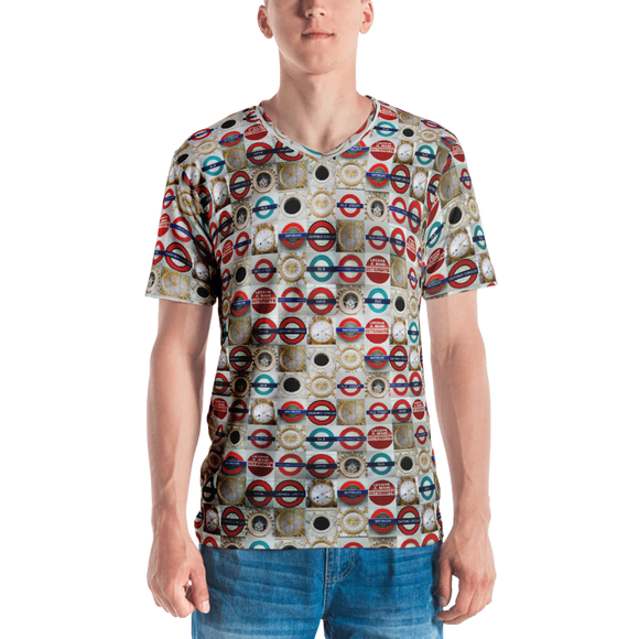 hinesii 'Circles' Men's V-neck T-shirt
