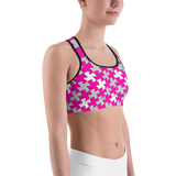 hinesii 'Tessie Vivid Pink and Gray' Sports bra