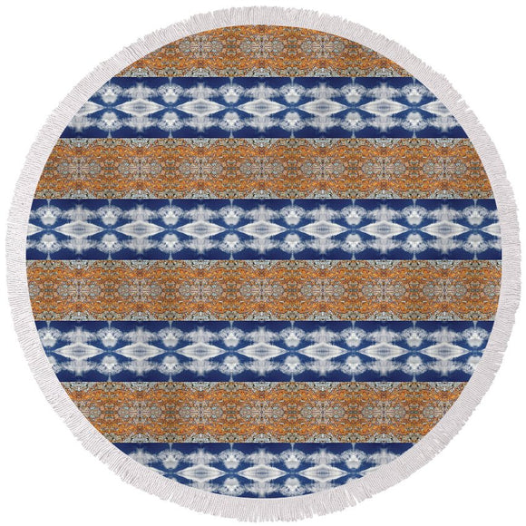 Rusty Clouds - Round Beach Towel