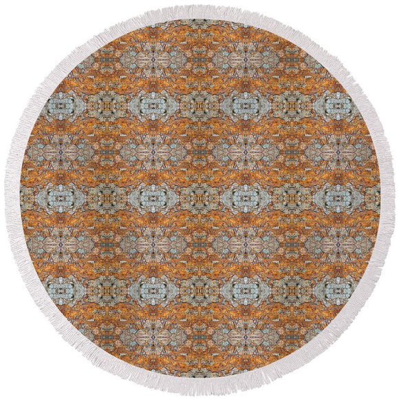 Rusty Lace - Round Beach Towel