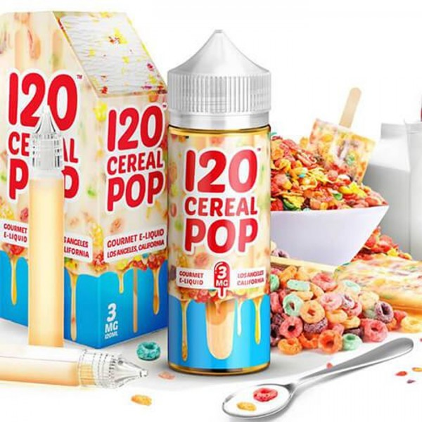 Vape Review of 120 Cereal Pop by Mad Hatter E-liquid (120mL)