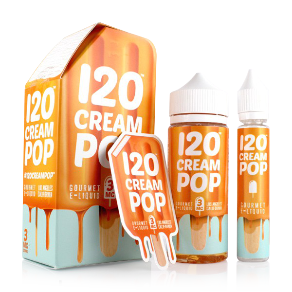 Vape Review of 120 Cream Pop E-Liquid (120ML)