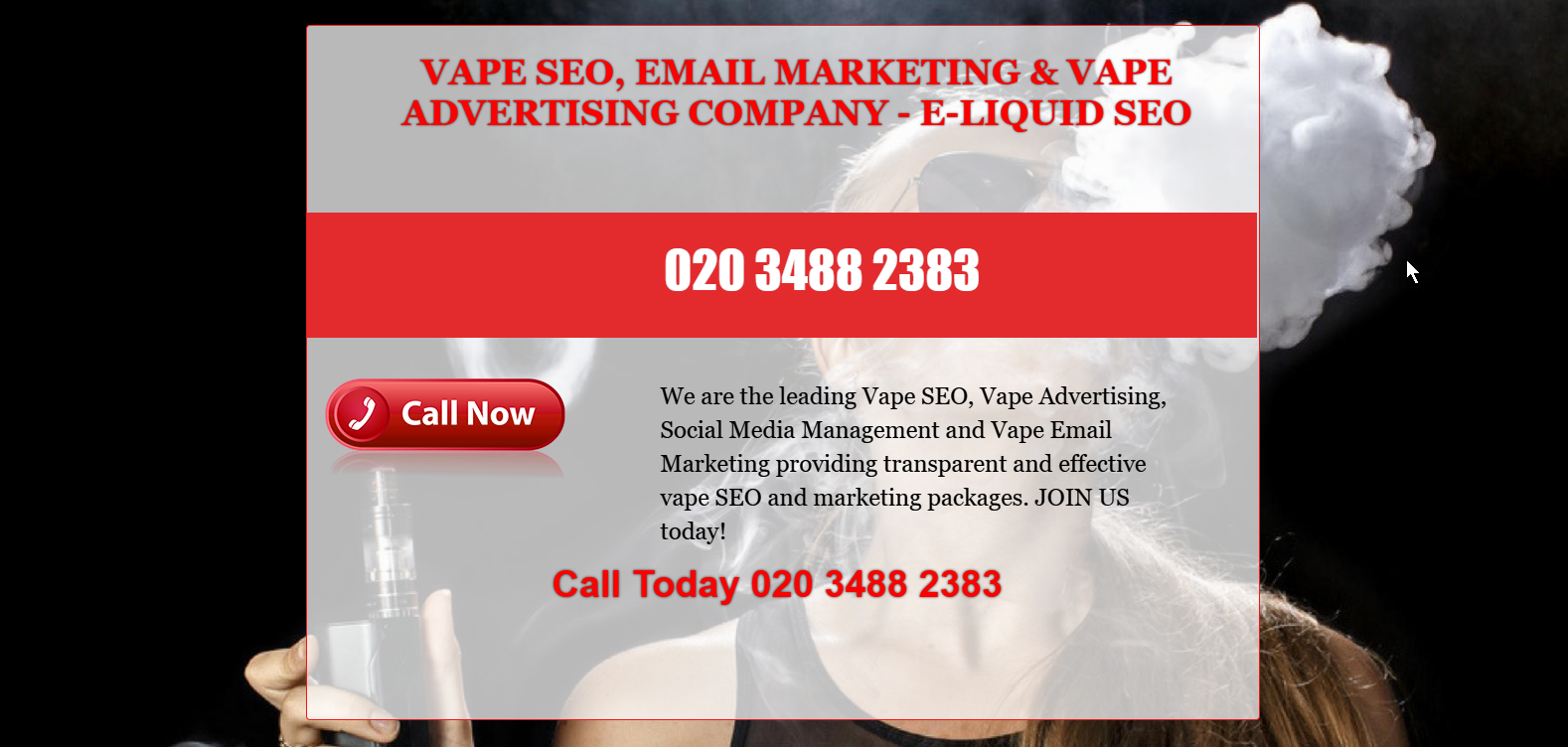 Leads for Your Local Vape Business - Vape Shop Advertising